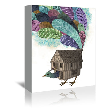 Bird House Revisited by Laura Graves Wrapped Canvas - Wrapped Canvas - Americanflat