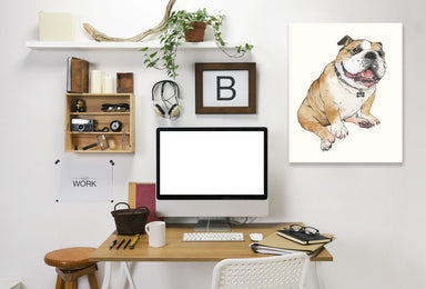 Bull Dog by Laura Graves Wrapped Canvas - Wrapped Canvas - Americanflat