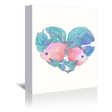 Carassius by Laura Graves Wrapped Canvas - Wrapped Canvas - Americanflat