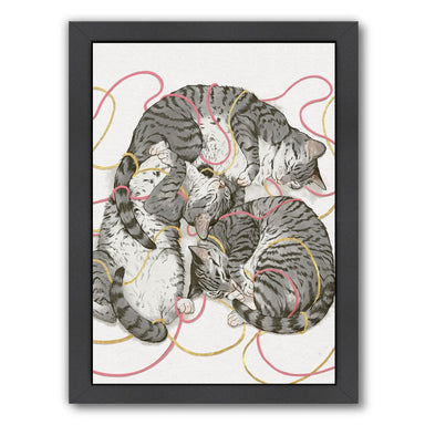 Cat Sin Rose Gold by Laura Graves Framed Print - Americanflat