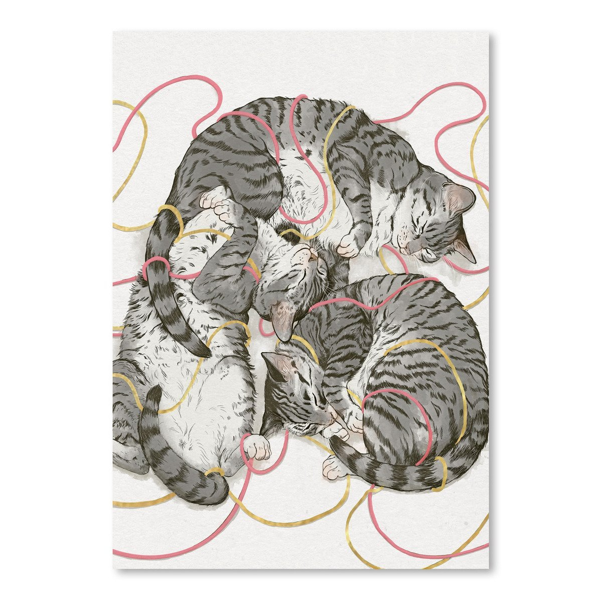 Cat Sin Rose Gold by Laura Graves Art Print - Art Print - Americanflat