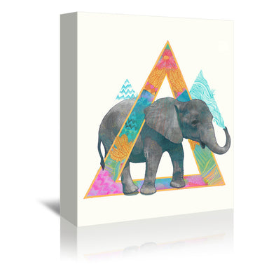 Elephant by Laura Graves  - 2 Piece Gallery Wrapped Canvas Set - Art Set - Americanflat