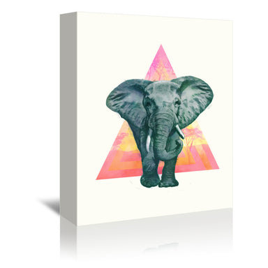 Elephant 2 by Laura Graves Wrapped Canvas - Wrapped Canvas - Americanflat