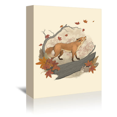 Fox & Rabbit by Laura Graves Wrapped Canvas - Wrapped Canvas - Americanflat