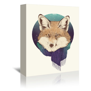 Fox by Laura Graves Wrapped Canvas - Wrapped Canvas - Americanflat