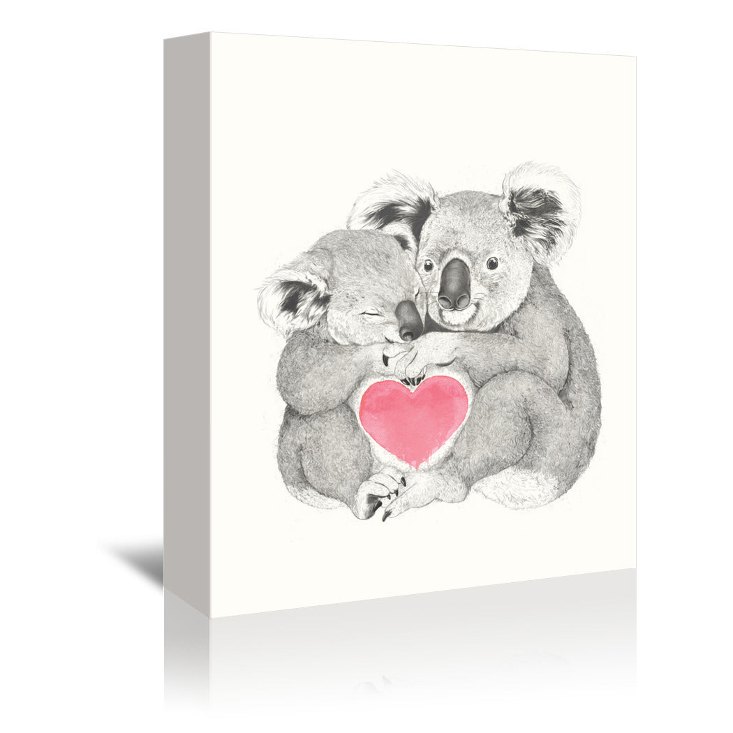 Koalas Love hugs by Laura Graves Wrapped Canvas - Wrapped Canvas - Americanflat