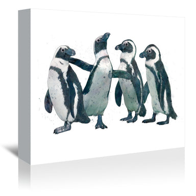 Pen Guin Party by Laura Graves Wrapped Canvas - Wrapped Canvas - Americanflat