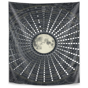 Phases Of The Moon 2017 by Laura Graves Tapestry