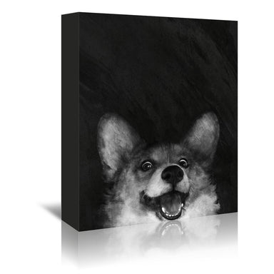 Sausage Fox corgi by Laura Graves Wrapped Canvas - Wrapped Canvas - Americanflat
