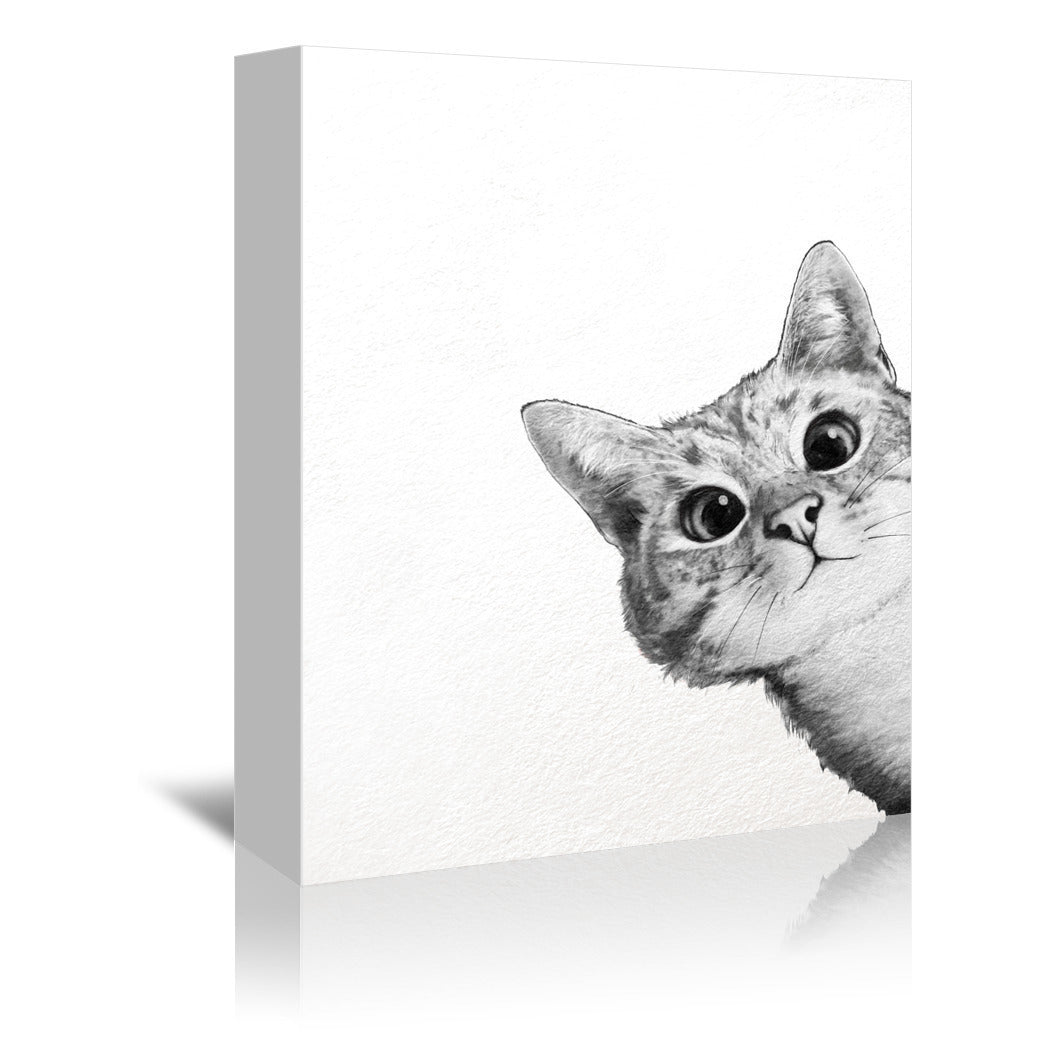 Sneaky Cat by Laura Graves Wrapped Canvas