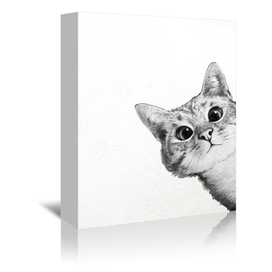 Sneaky Cat by Laura Graves Wrapped Canvas - Wrapped Canvas - Americanflat