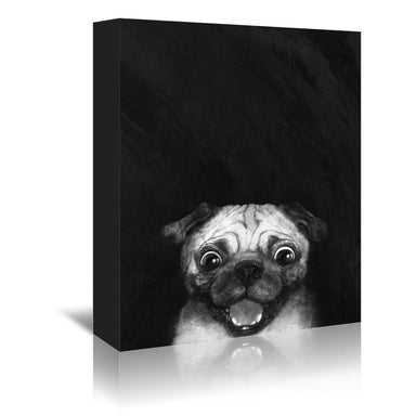 Snuggle Pug by Laura Graves Wrapped Canvas - Wrapped Canvas - Americanflat