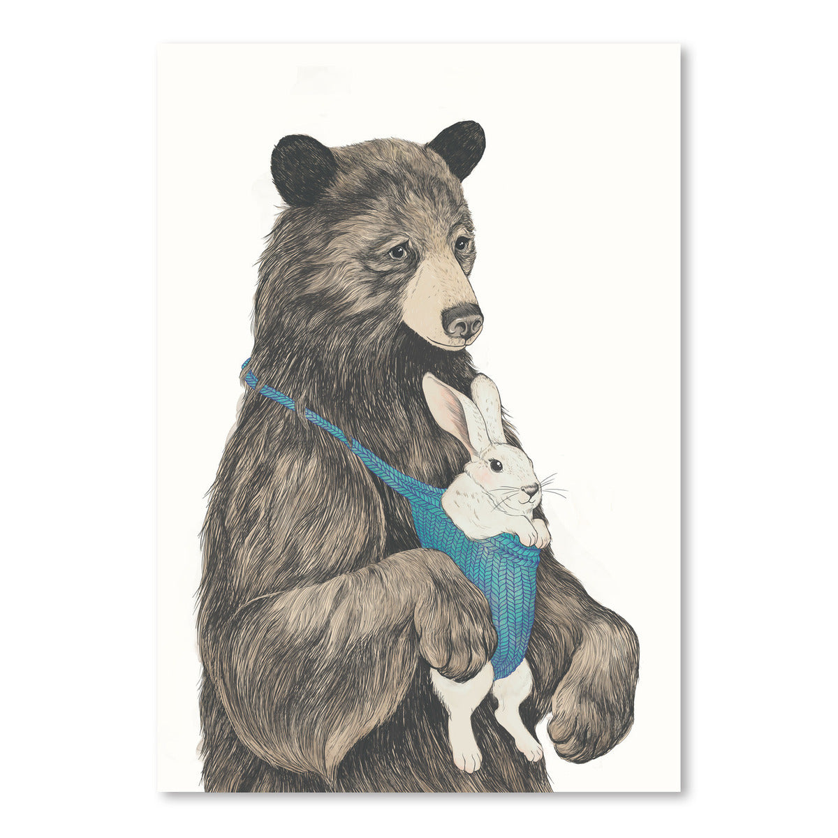 The Bear Au pair by Laura Graves Art Print - Art Print - Americanflat