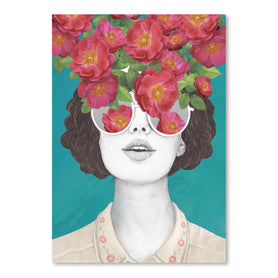 The Optimist rose tinted Glasses by Laura Graves Art Print