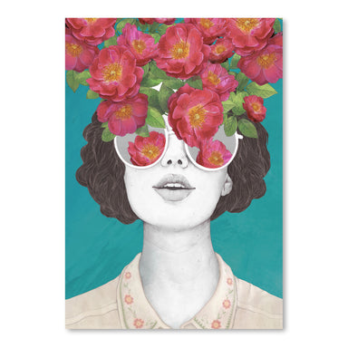 The Optimist rose tinted Glasses by Laura Graves Art Print - Art Print - Americanflat