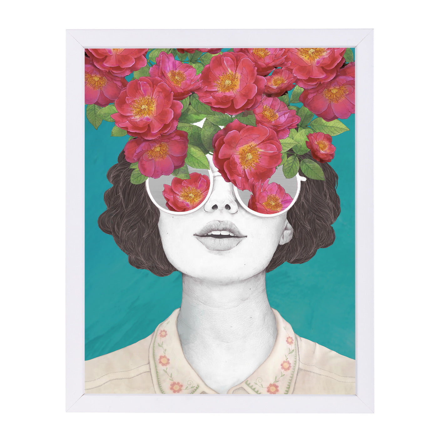 The Optimist Rose Tinted Glasses by Laura Graves Framed Print - Americanflat