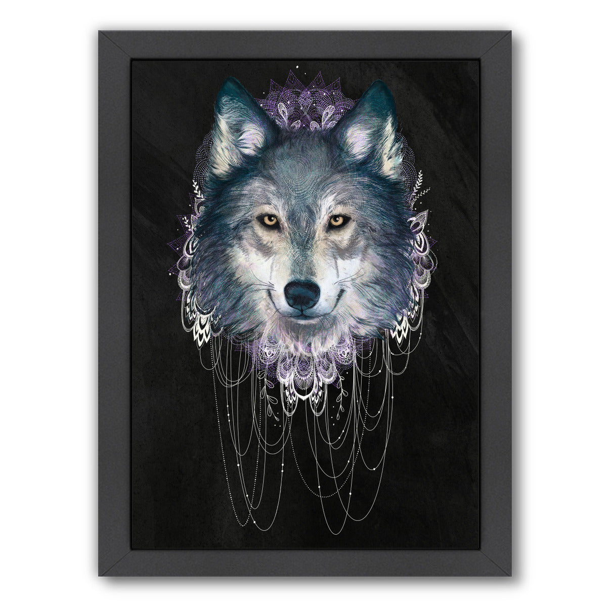 Wolf by Laura Graves Framed Print - Americanflat