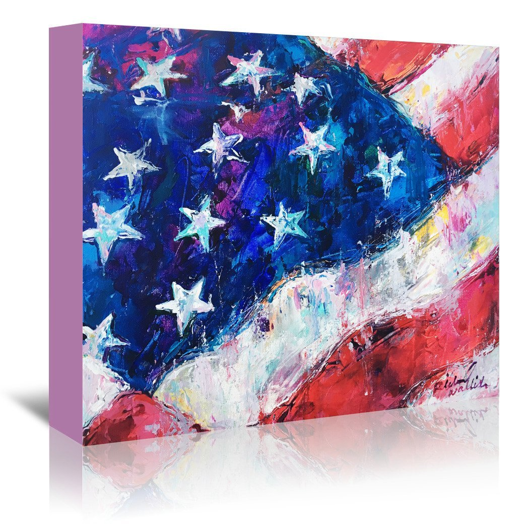 American Flag by Richard Wallich Wrapped Canvas - Wrapped Canvas - Americanflat