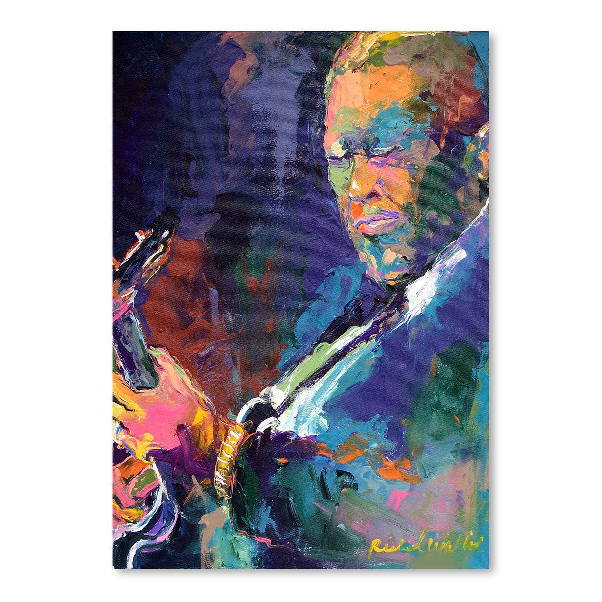 Bb King by Richard Wallich Art Print - Art Print - Americanflat