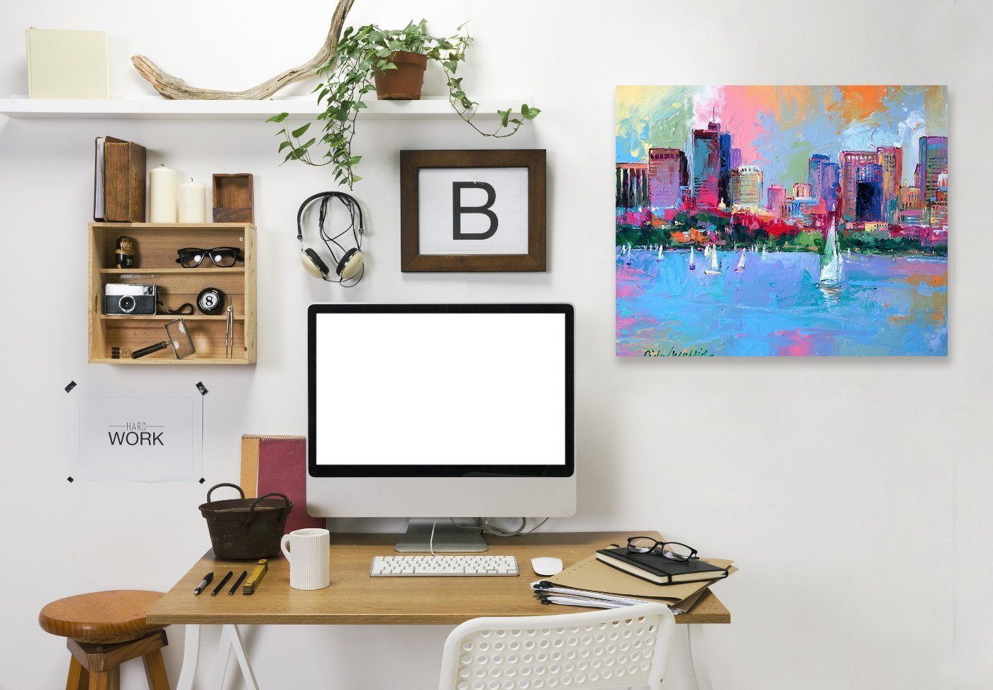 Boston by Richard Wallich Wrapped Canvas - Wrapped Canvas - Americanflat