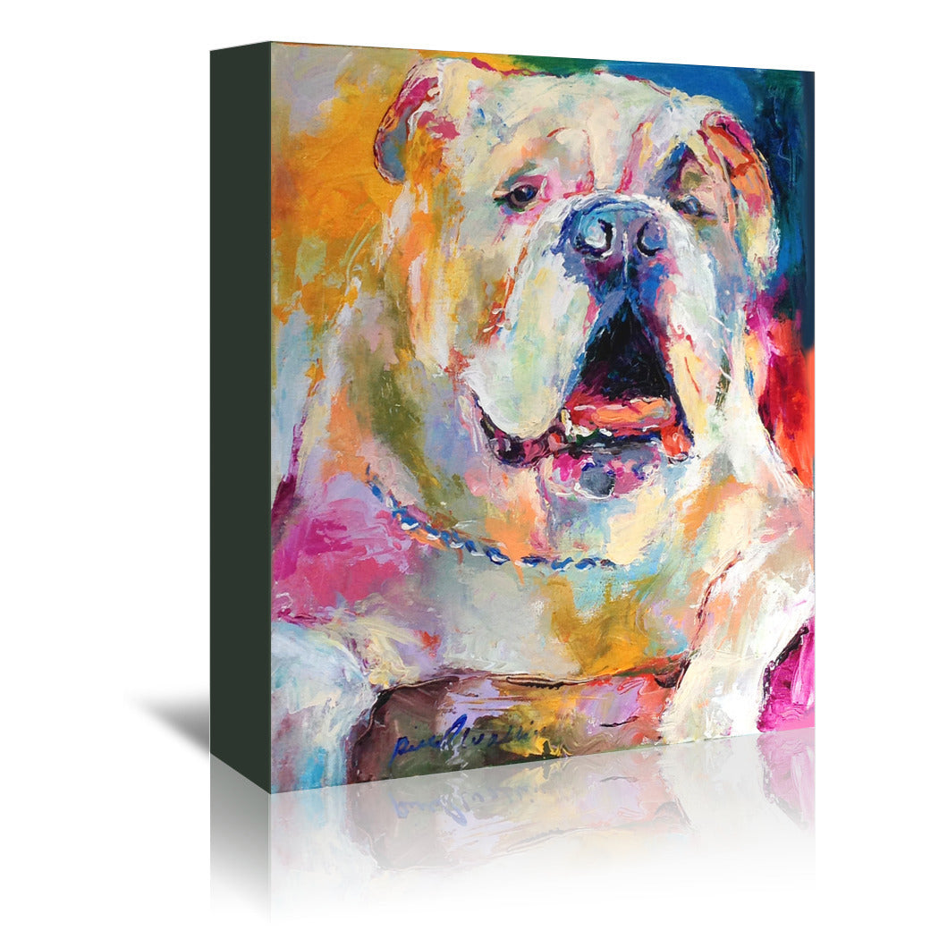 Bulldog by Richard Wallich Wrapped Canvas - Wrapped Canvas - Americanflat