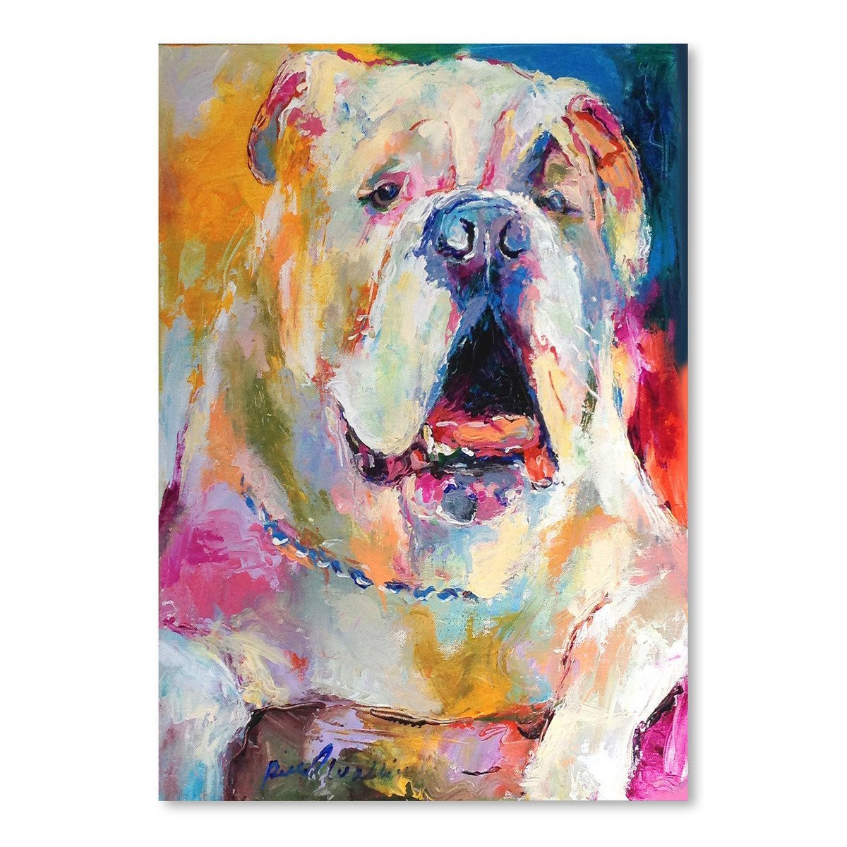 Bulldog by Richard Wallich Art Print - Art Print - Americanflat