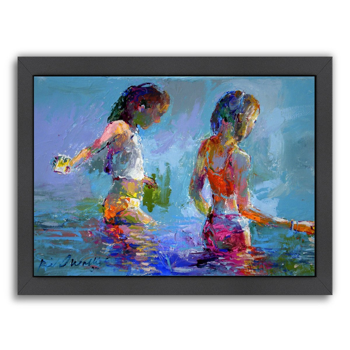 Catching Minnows by Richard Wallich Framed Print - Americanflat