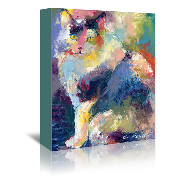 Cat by Richard Wallich Wrapped Canvas