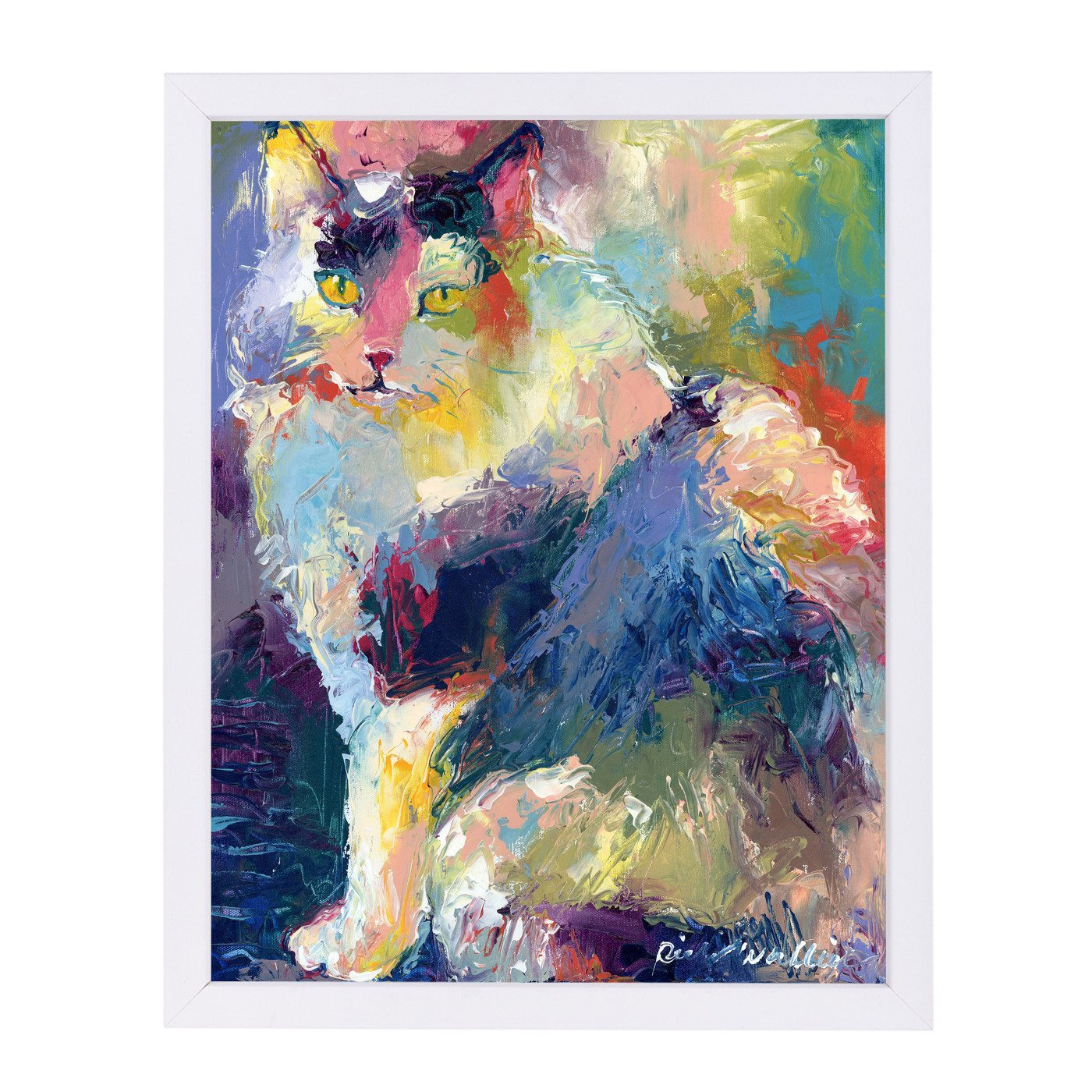 Cat by Richard Wallich Framed Print - Americanflat