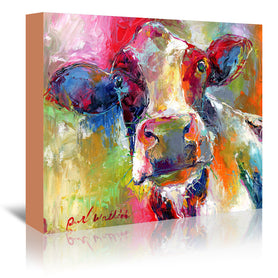 Cow 1 by Richard Wallich Wrapped Canvas