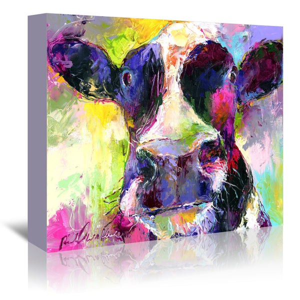 Cow by Richard Wallich Wrapped Canvas