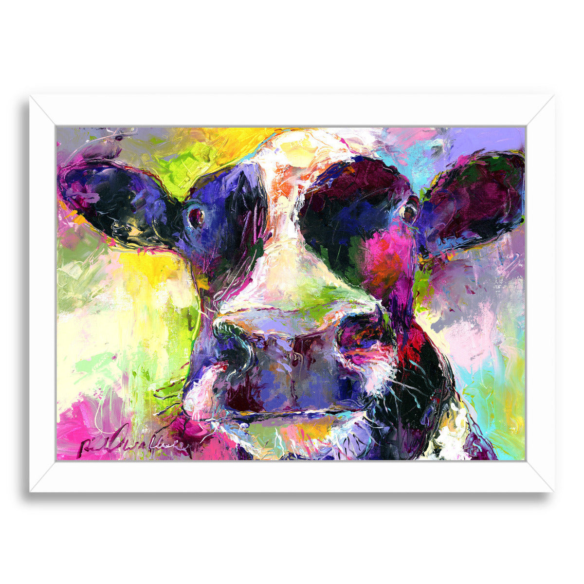 Cow by Richard Wallich Framed Print - Americanflat