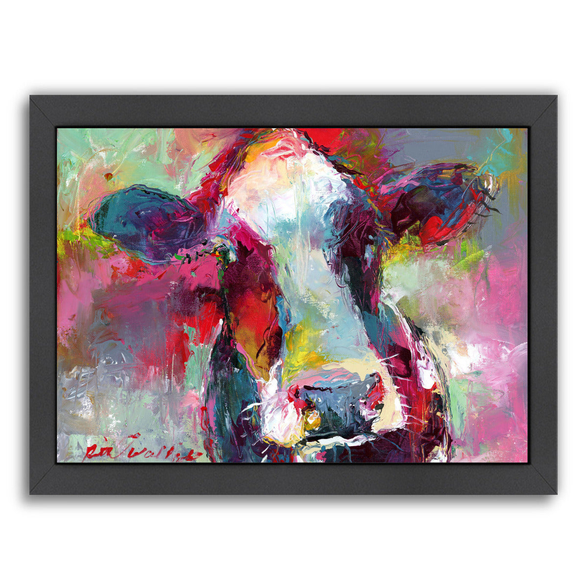 Cow3 by Richard Wallich Framed Print - Americanflat
