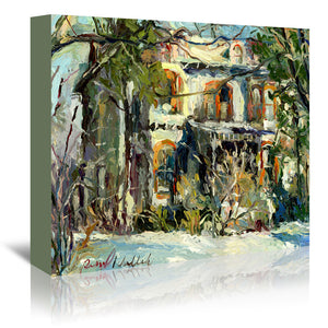 Haunted House by Richard Wallich Wrapped Canvas
