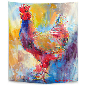 Rooster by Richard Wallich Tapestry