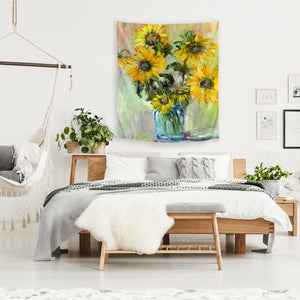 Sunflowers by Richard Wallich Tapestry