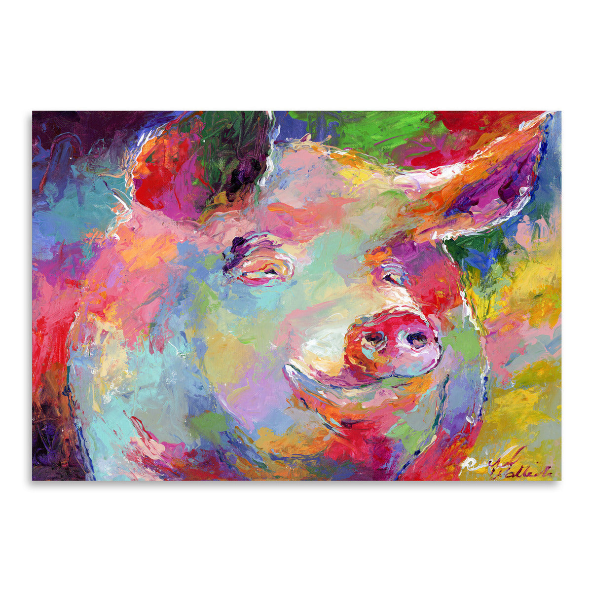 Pig by Richard Wallich Art Print - Art Print - Americanflat