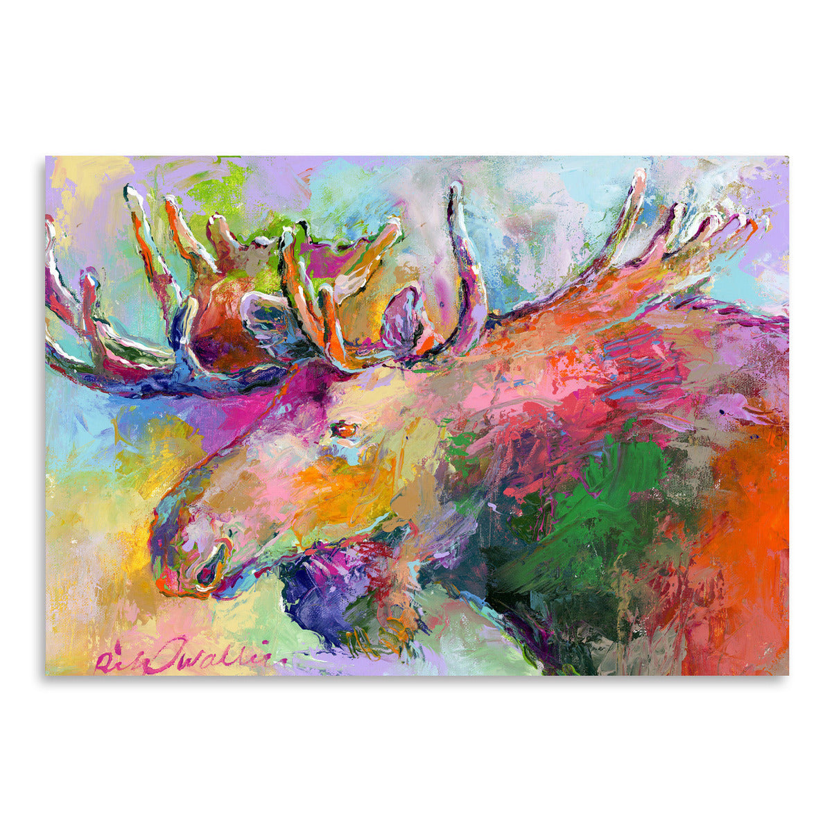 Moose by Richard Wallich Art Print - Art Print - Americanflat