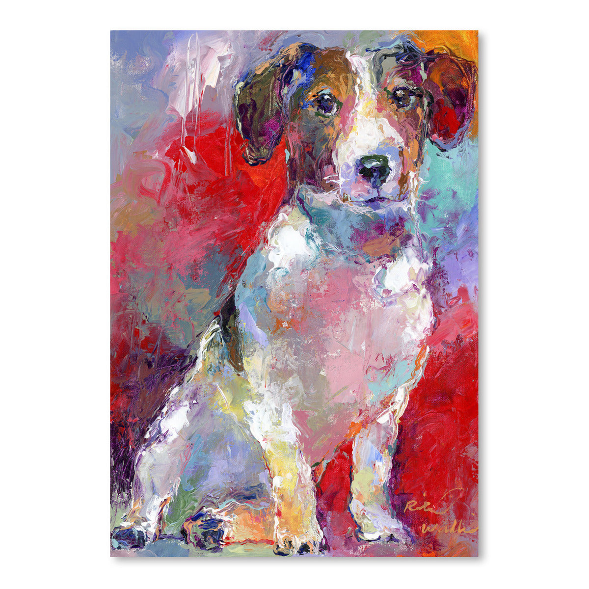 Russell Terrier by Richard Wallich Art Print - Art Print - Americanflat