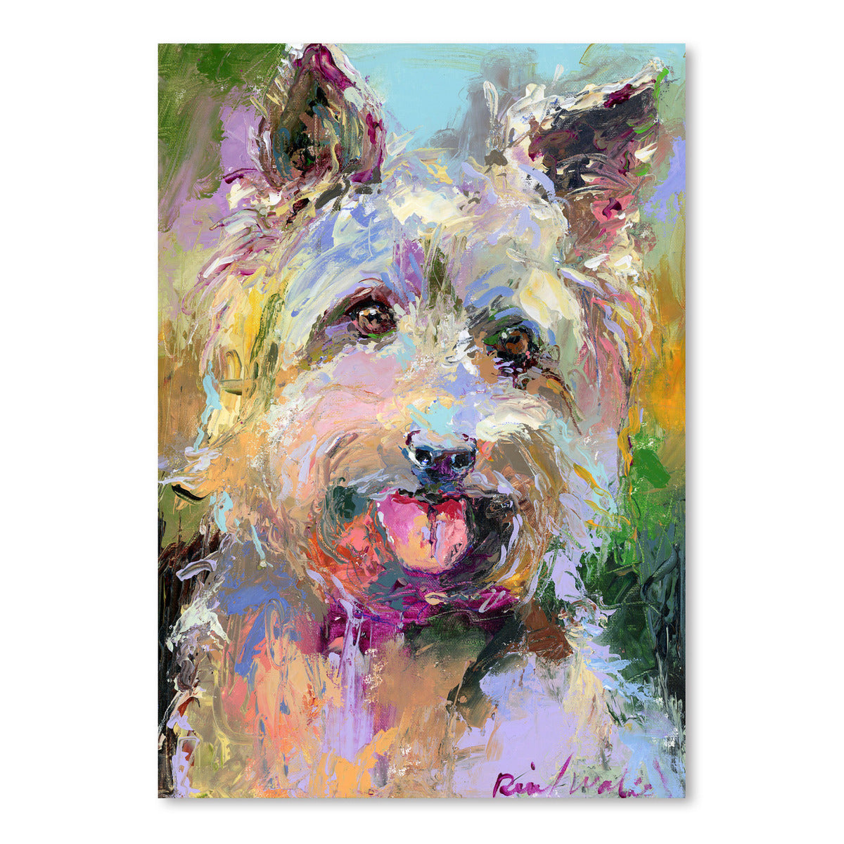 Yorkie by Richard Wallich Art Print - Art Print - Americanflat