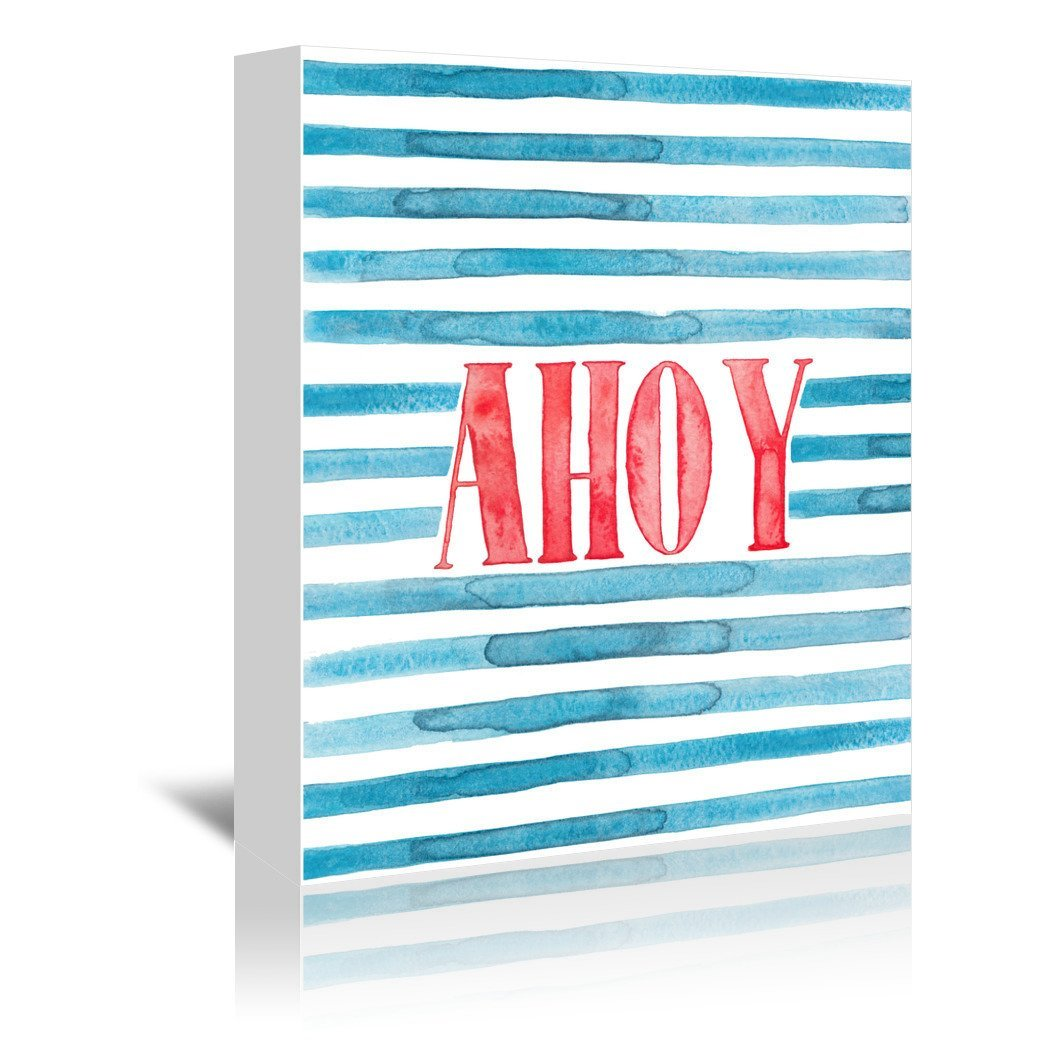 Ahoy by Elena O'Neill Wrapped Canvas - Wrapped Canvas - Americanflat