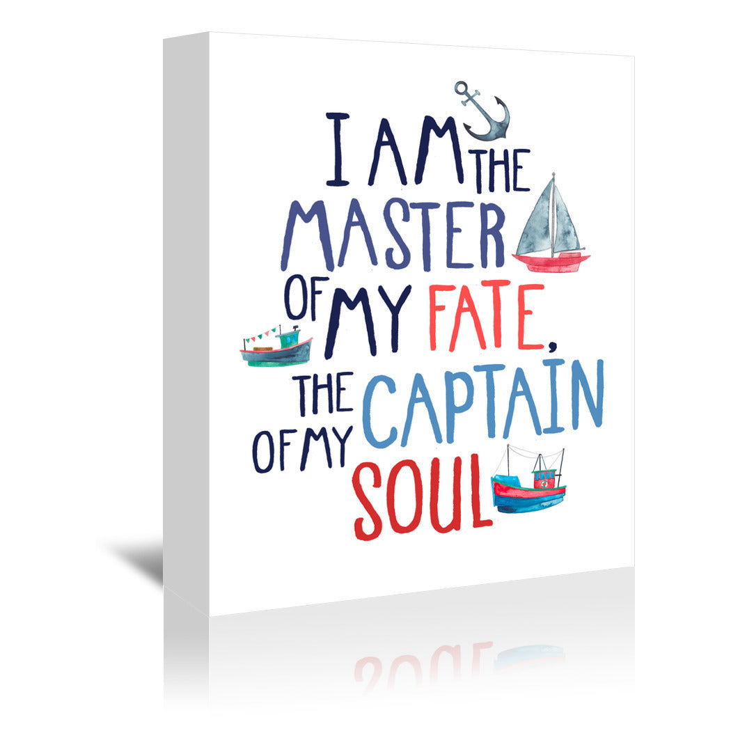 I Am The Master Of My Fate by Elena O'Neill Wrapped Canvas - Wrapped Canvas - Americanflat
