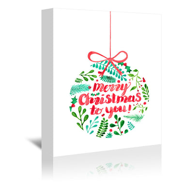 Merry Christmas by Elena O'Neill Wrapped Canvas - Wrapped Canvas - Americanflat