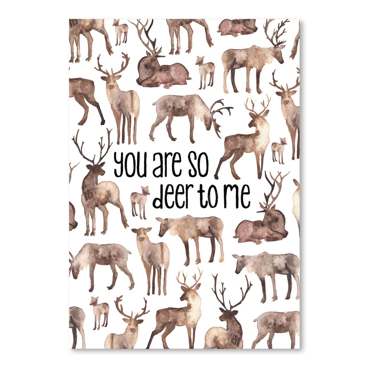 You Are So Deer To Me by Elena O'Neill Art Print - Art Print - Americanflat