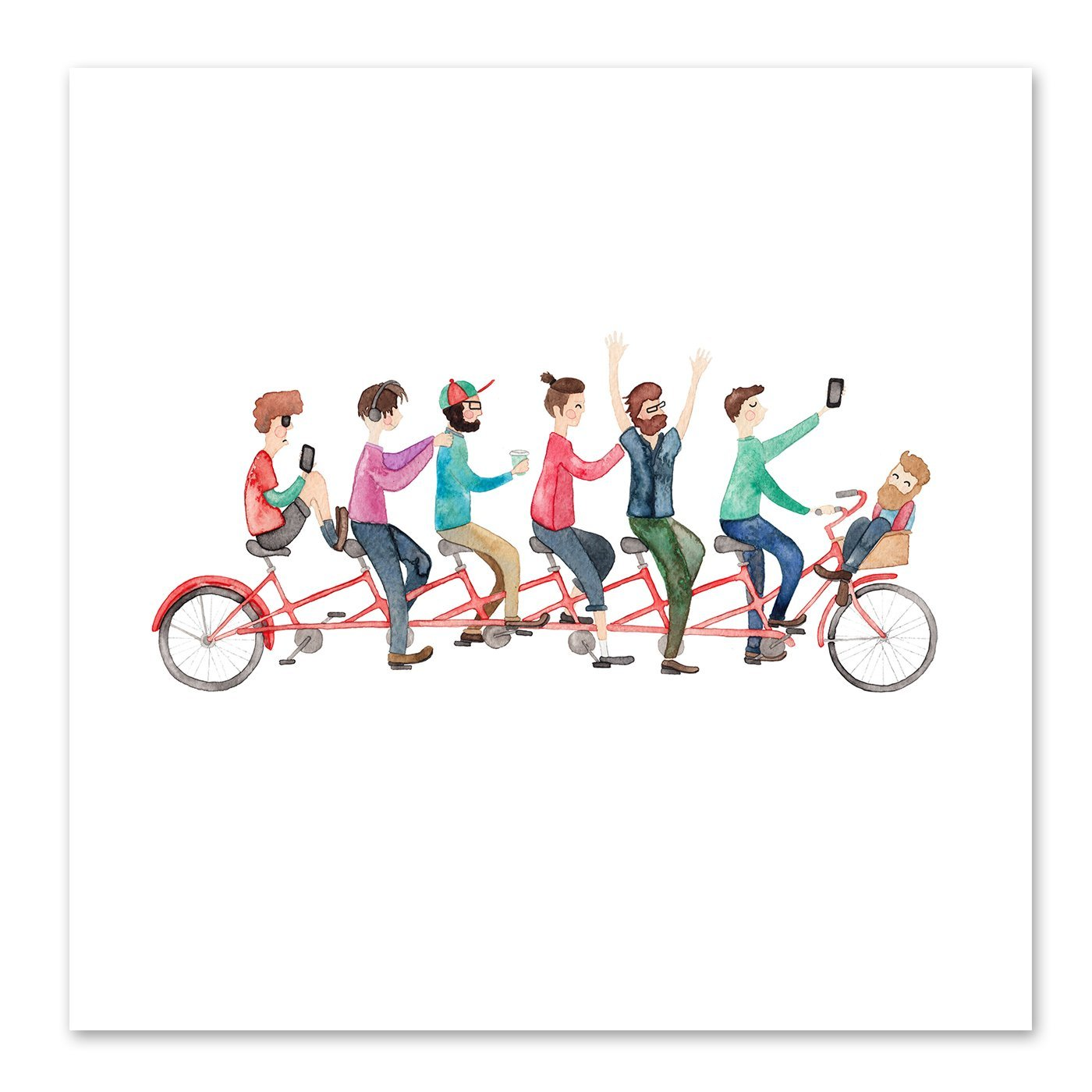 Bike Ride by Elena O'Neill Art Print - Art Print - Americanflat