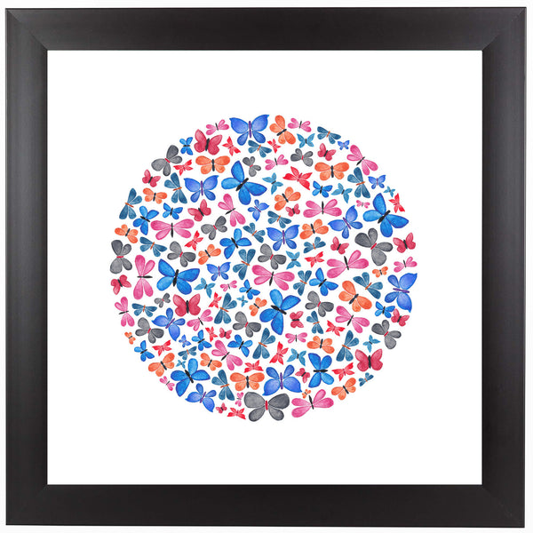 Butterfly Circle by Elena O'Neill Framed Print