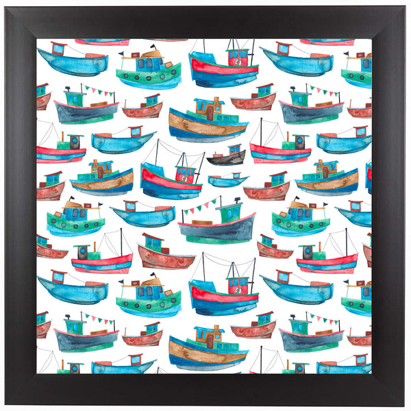 Fishing Boats by Elena O'Neill Framed Print