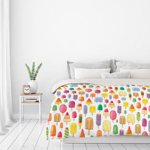 Ice Lollies by Elena O'Neill Duvet Cover