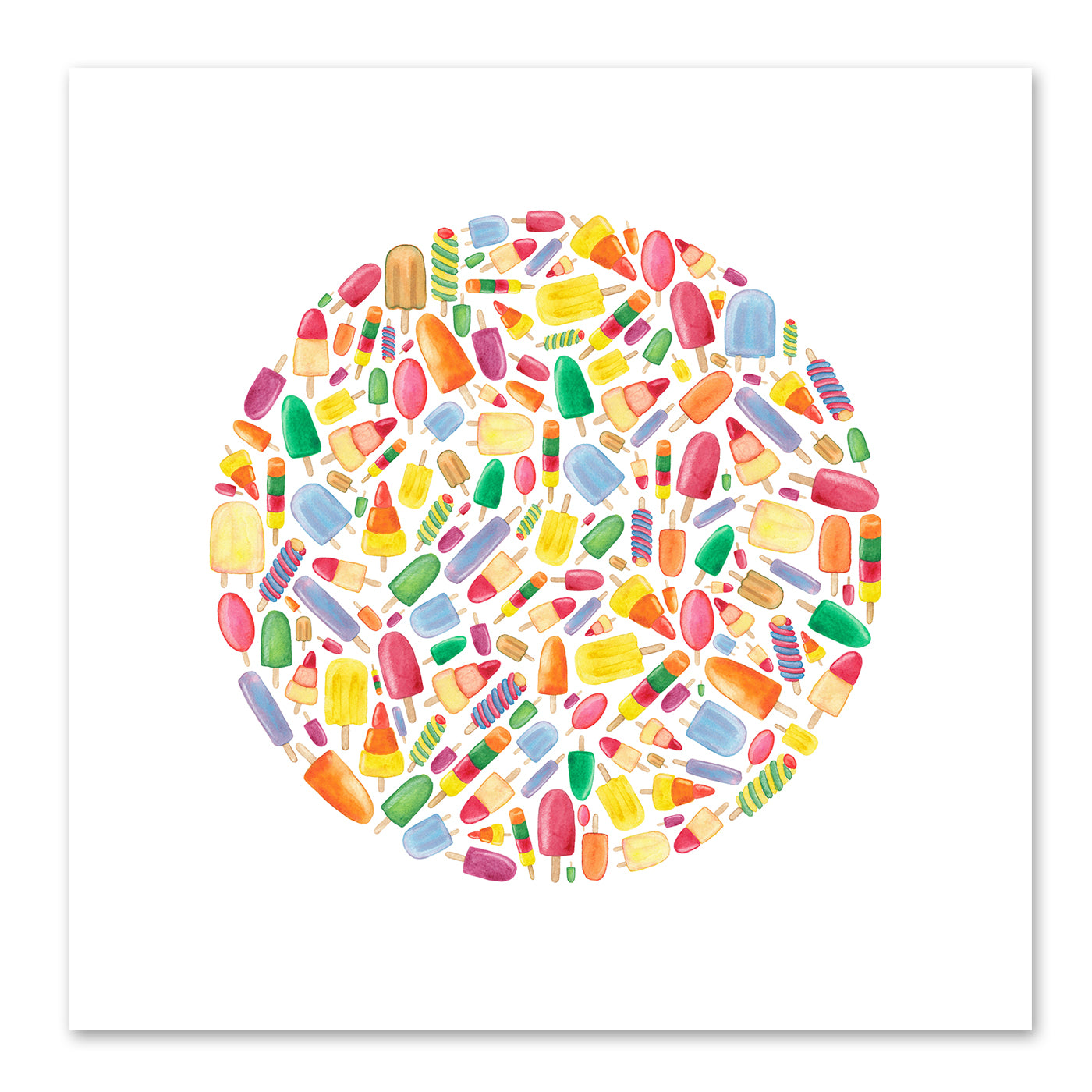 Ice Lolly Circle by Elena O'Neill Art Print - Art Print - Americanflat