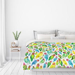 Love Birds by Elena O'Neill Duvet Cover